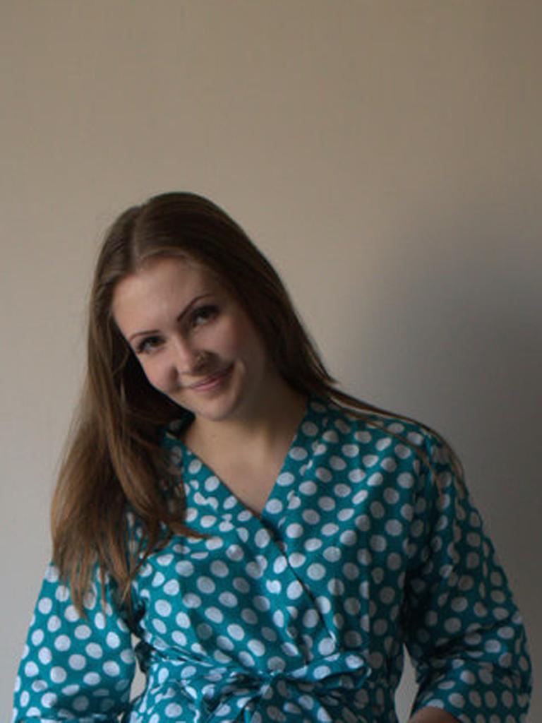 Teal Polka Dots Robes for bridesmaids | Getting Ready Bridal Robes