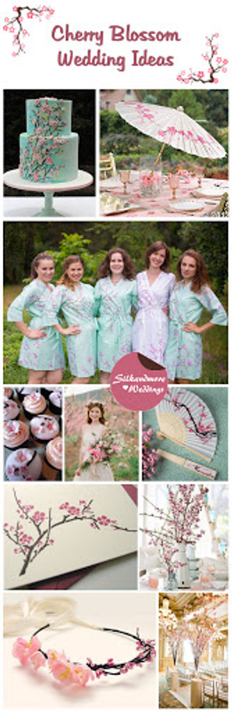 Cherry Blossom Wedding Theme Robes