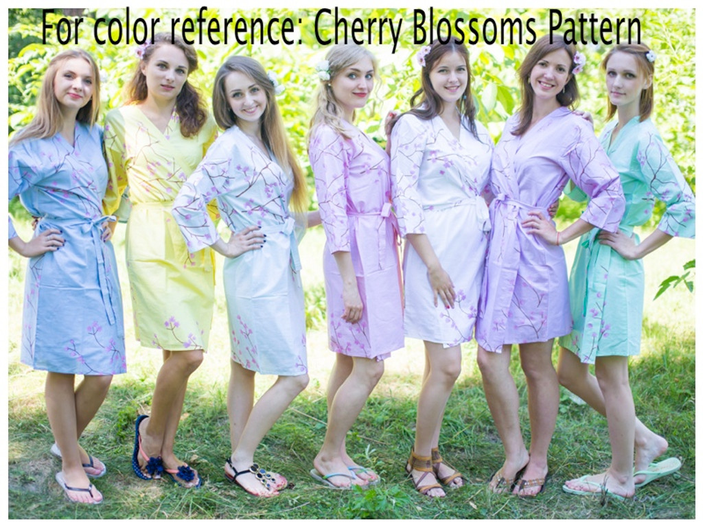Cherry Blossom Wedding Theme Bridesmaids Robes