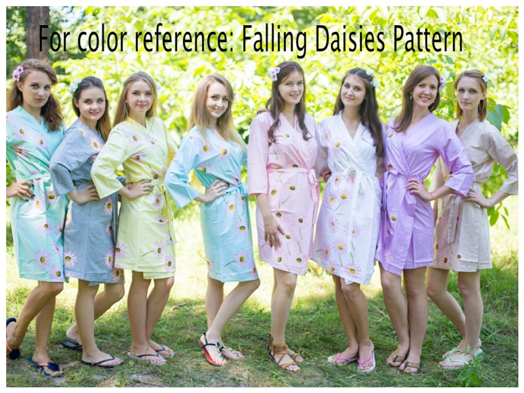 Falling Daisies Fabric Pattern Colors
