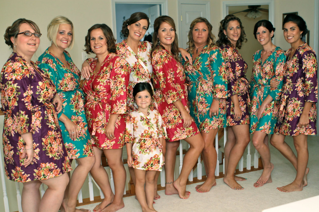 Bright and Colorful Bridal Party Robes