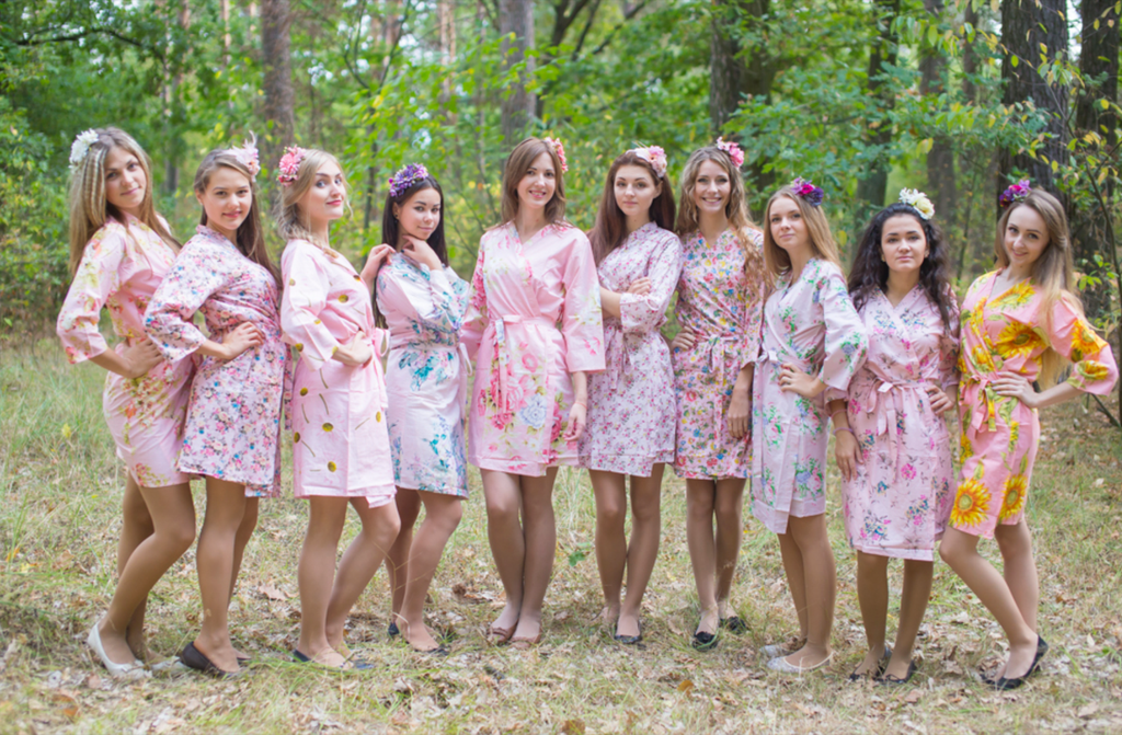 Assorted Pinks | SilkandMore Robes
