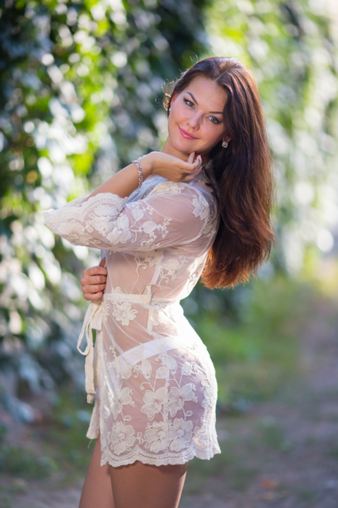 Oh Heather White Scalloped Lace Bridal Boudoir Robe