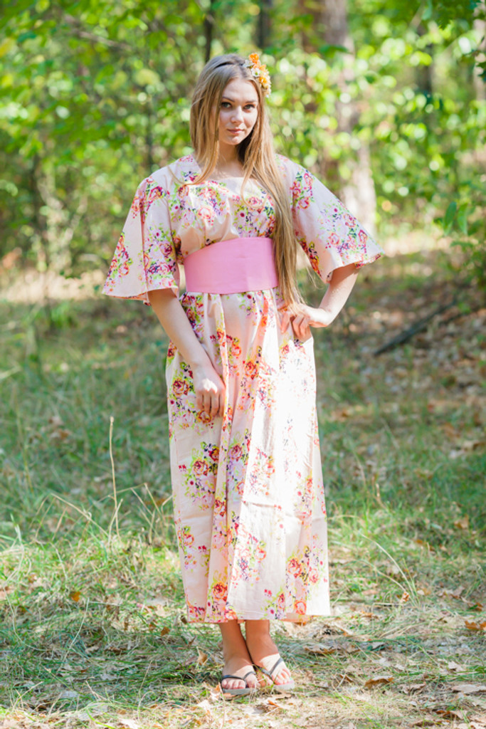 Beauty, Belt and Beyond Style Kaftans for bridesmaids to get ready in