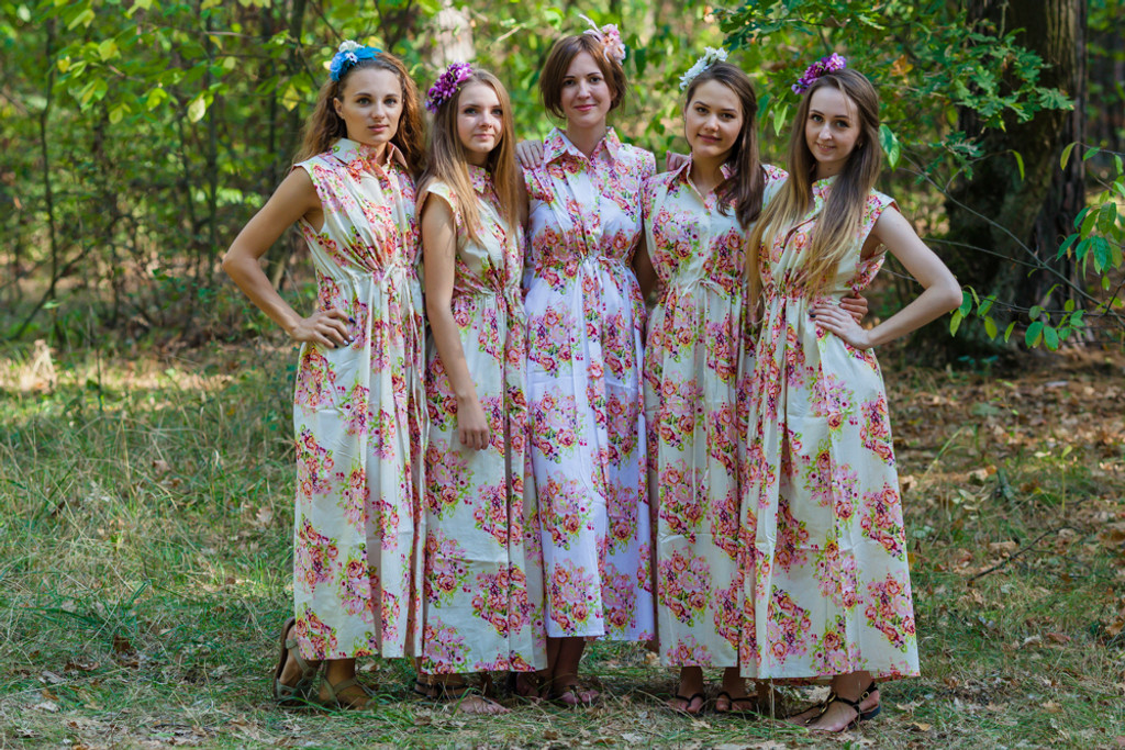 Cool Summer Style Kaftans for bridesmaids to get ready in