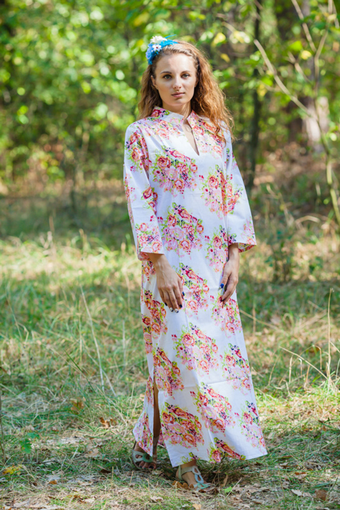 Mandarin On My Mind Style Kaftans for bridesmaids to get ready in