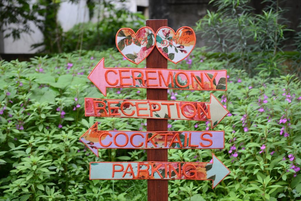 Floral Wedding Signs