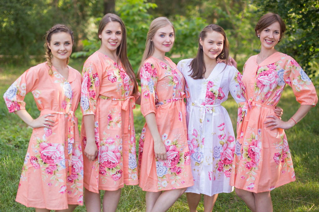 Cabbage Roses Housecoats for bridesmaids to get ready in