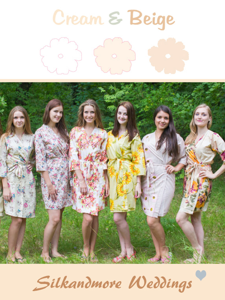 Assorted Creams | SilkandMore Robes