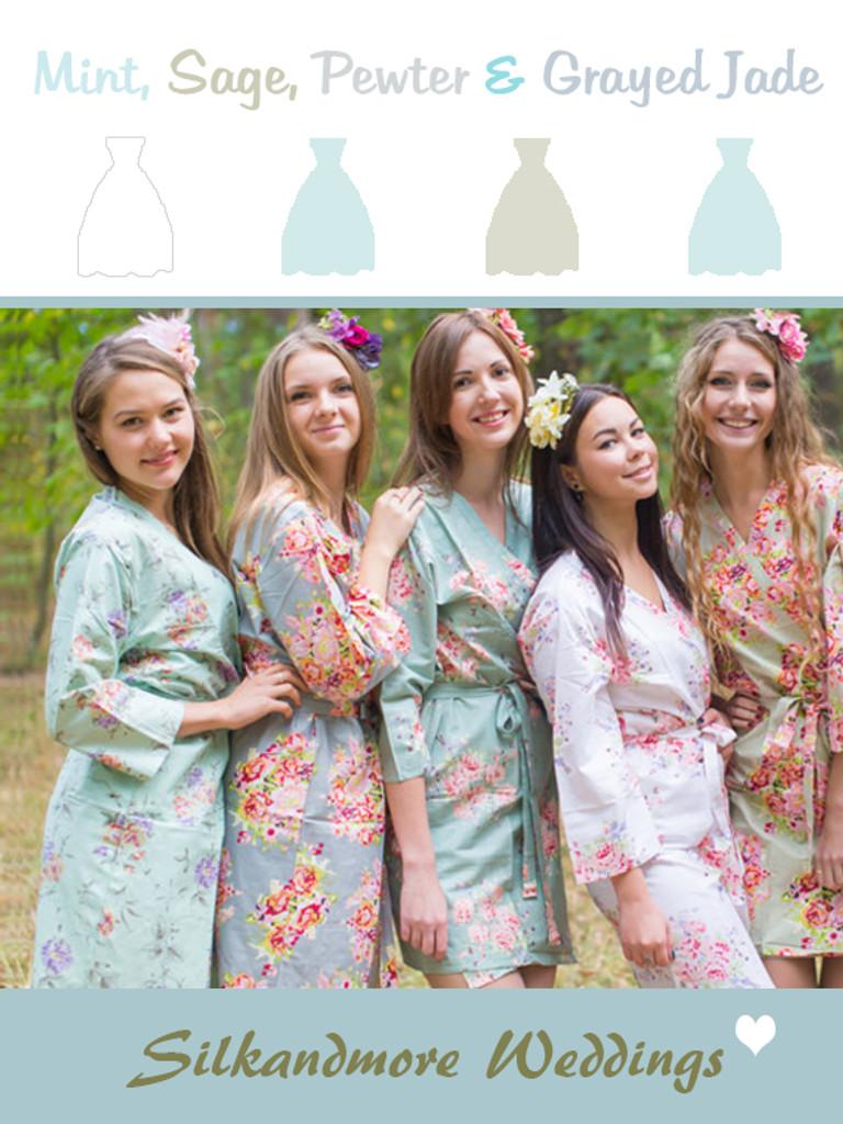 Assorted Grayed Jade | SilkandMore Robes