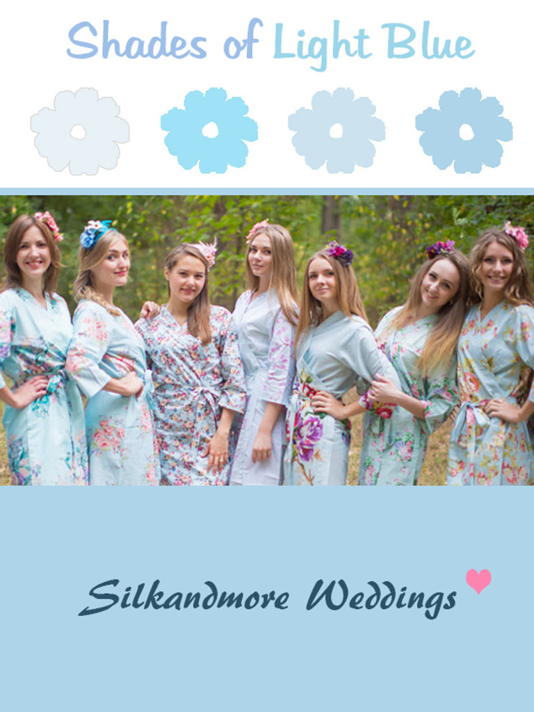 Assorted Light Blues   SilkandMore Robes