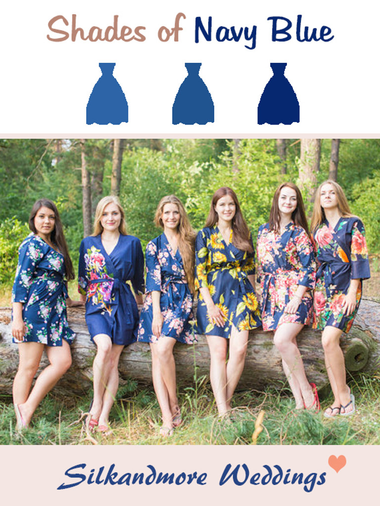 Assorted Navy Blues | SilkandMore Robes