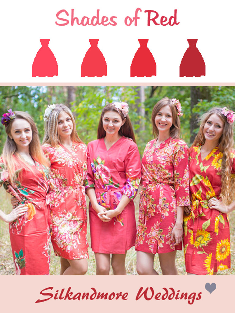 Assorted Reds | SilkandMore Robes