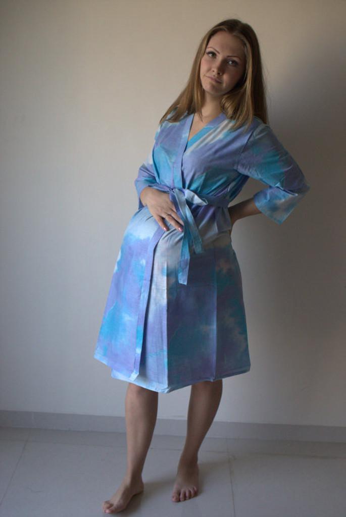 Batik Watercolor Maternity Robe