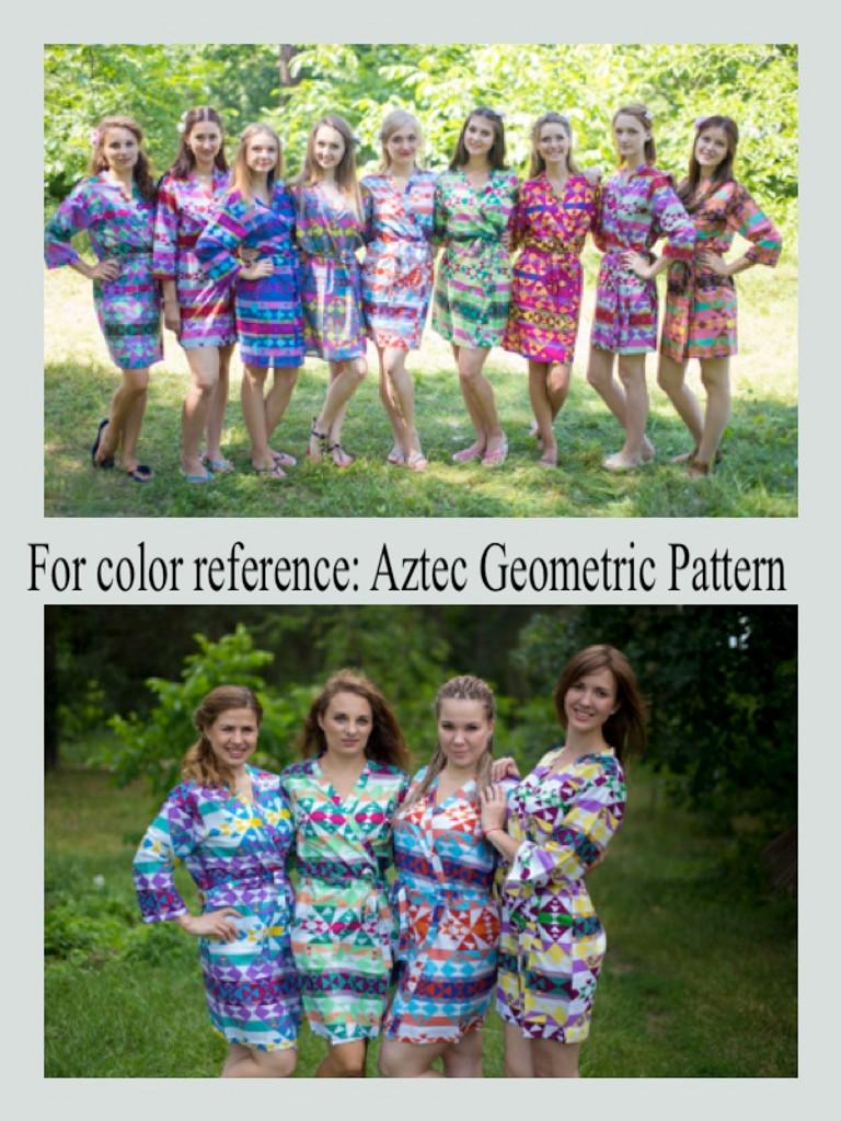 Diamond Aztec Maternity Knee Length Robe