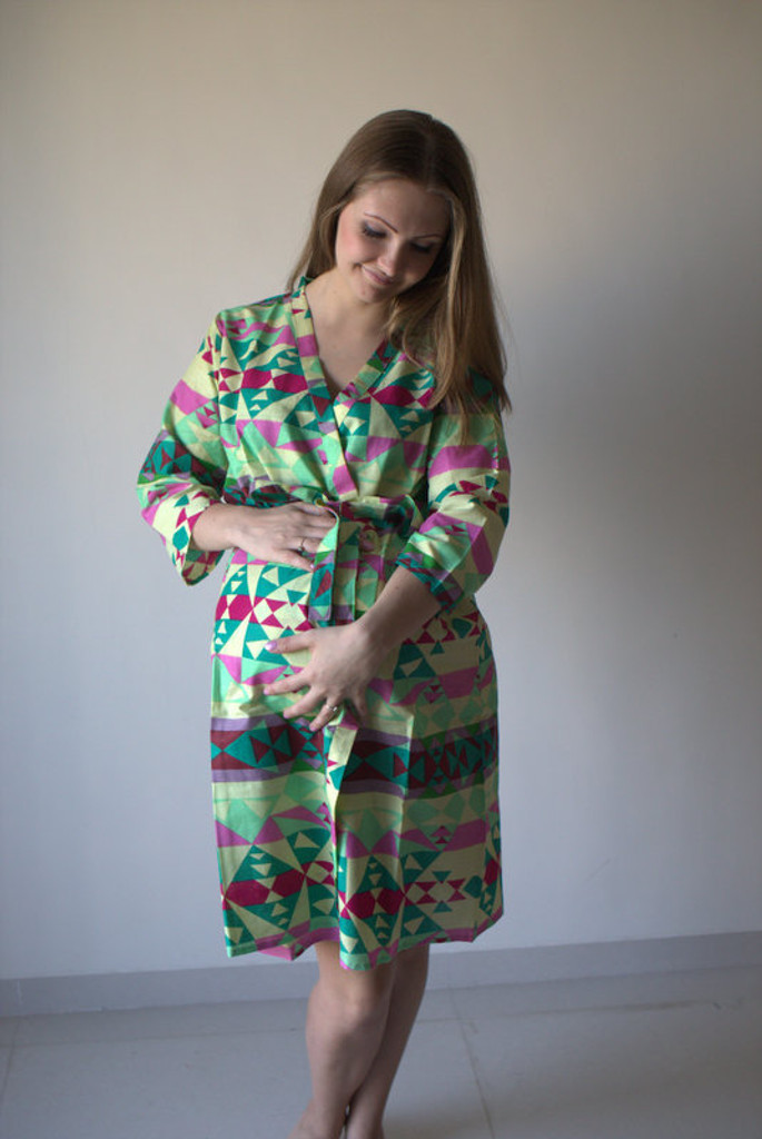 Diamond Aztec Maternity Robe