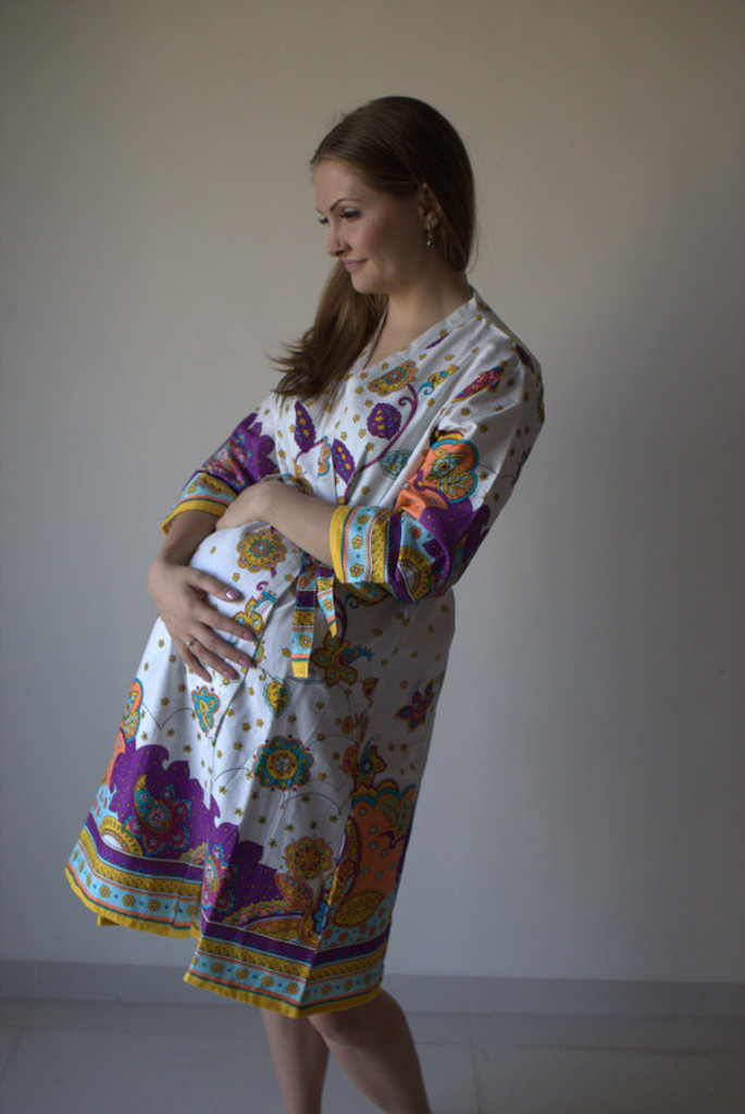Floral Paisley Maternity Robe