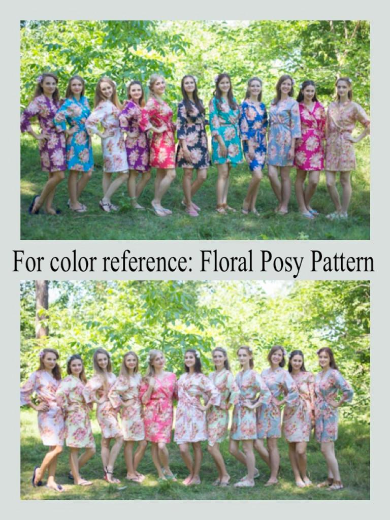 Floral Posy Maternity Knee Length Robe
