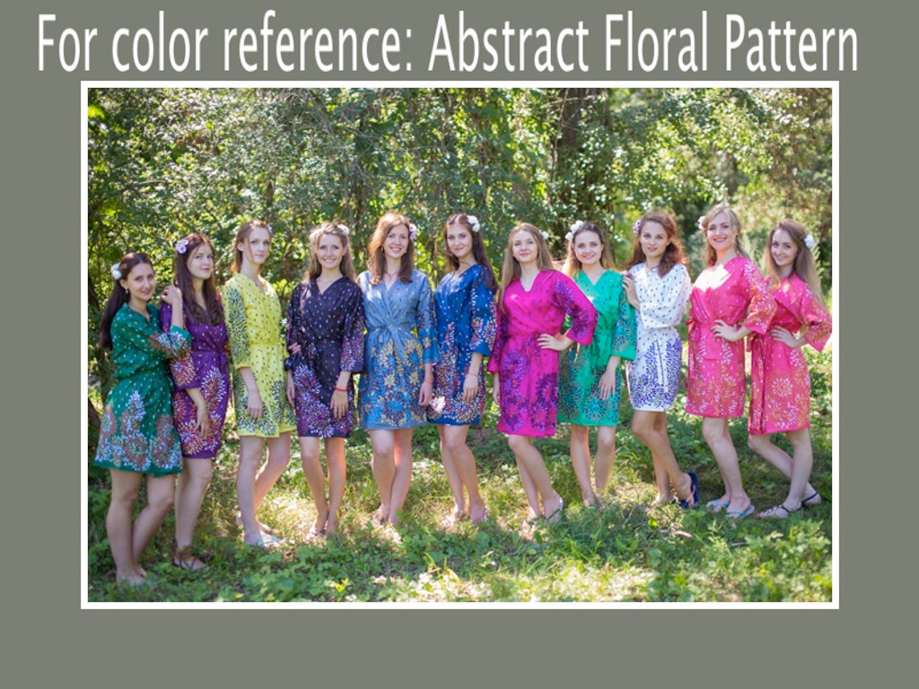 Abstract Floral Full Length Maternity Robe