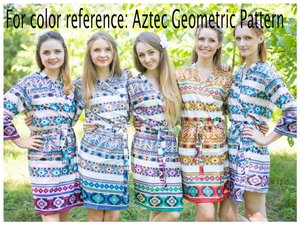 Aztec Geometric Full Length Maternity Robe