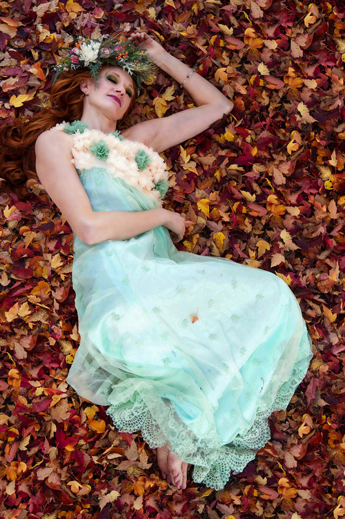 Enchanting Mint Haute Couture Lace Dress