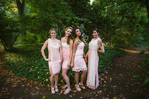 Dreamy Peach Wedding Palette Bridesmaids Dresses
