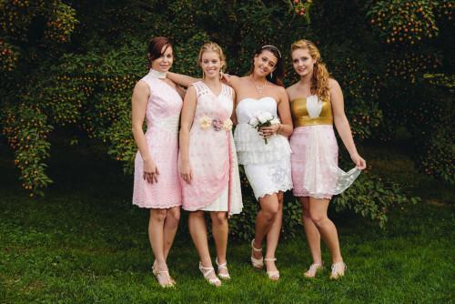 Dreamy Pink Wedding Palette Bridesmaids Dresses