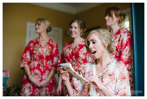 Red Robes for bridesmaids | Getting Ready Bridal Robes