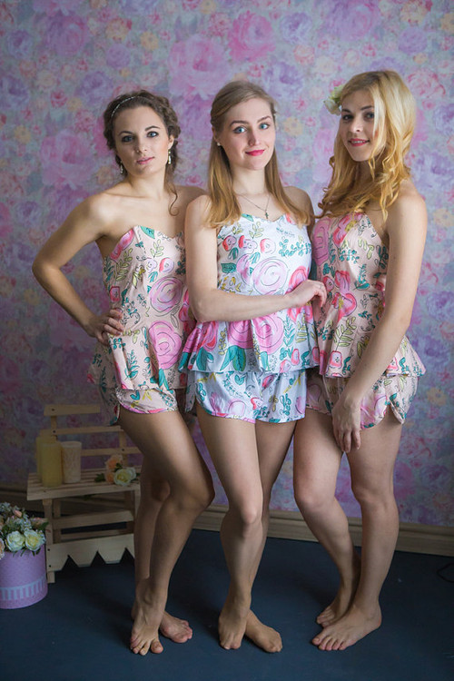 Strapless Style PJs in Whimsical Giggles Pattern