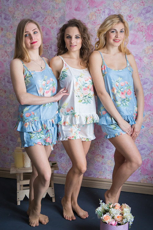 Frilly Style PJs in Angel Song Pattern