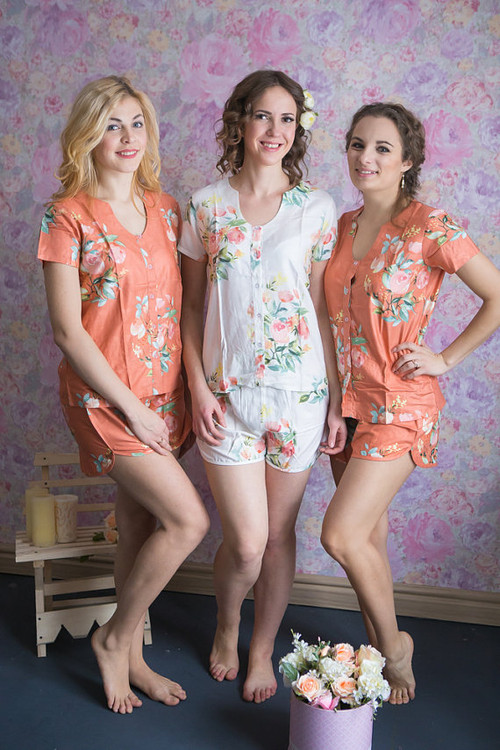 U-shaped neckline Style PJs in Angel Song Pattern