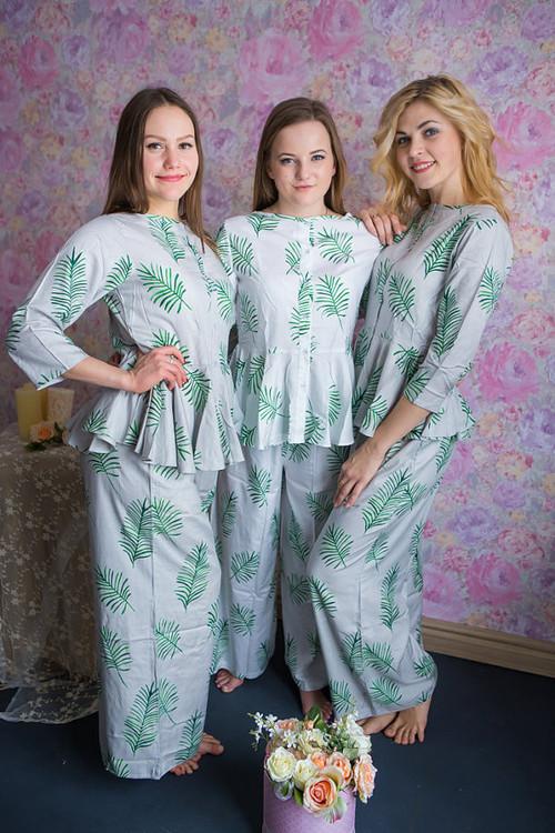 Peplum Style PJs in Tropical Delight Pattern_long