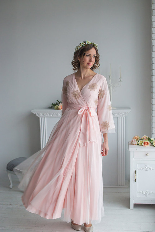 Blush Bridal Robe from my Paris Inspirations Collection - Flower Touch in Blush