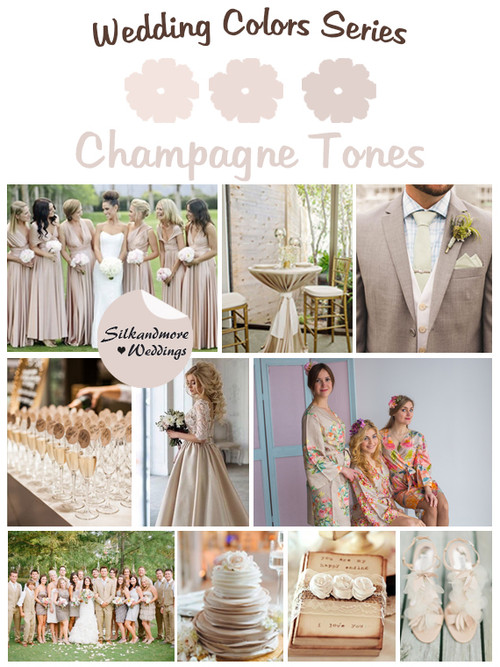 Champagne Tones Wedding Colors Palette