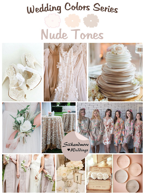 Nude Tones Wedding Color Palette