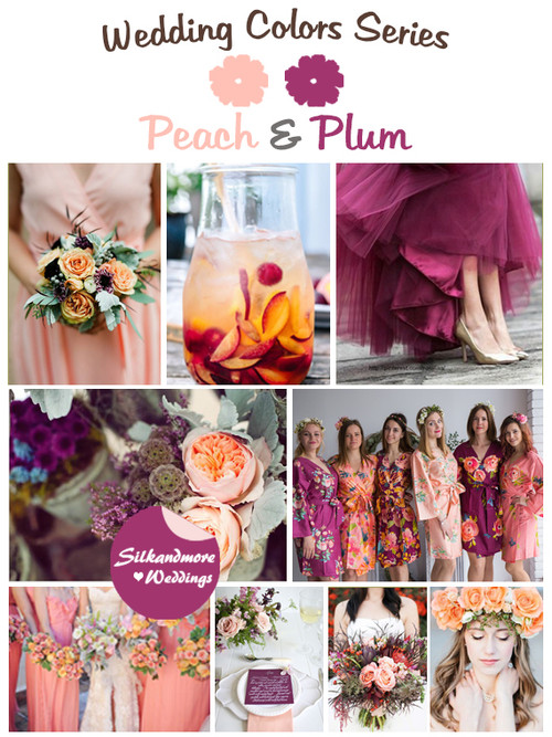 Peach and Plum Wedding Color Palette
