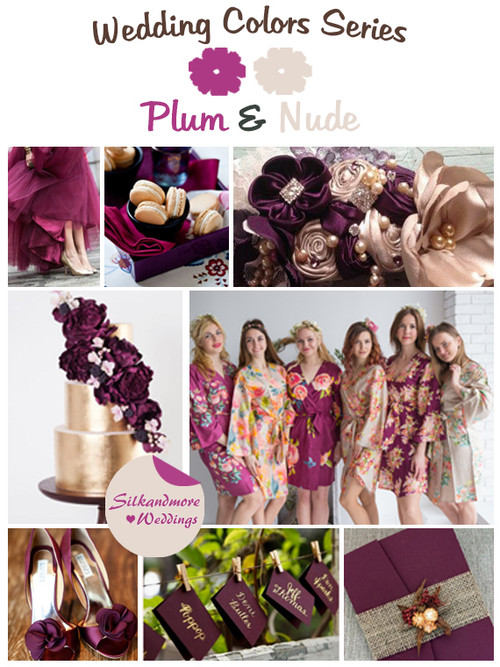 Plum and Nude Wedding Color Palette