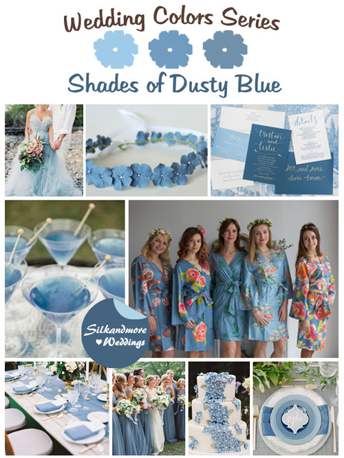 Shades of Dusty Blue Wedding Color Palette