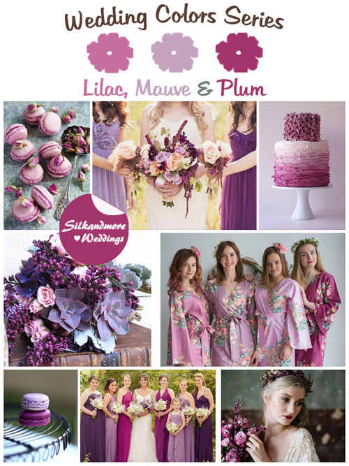 Lilac, Mauve and Plum Wedding Color Palette