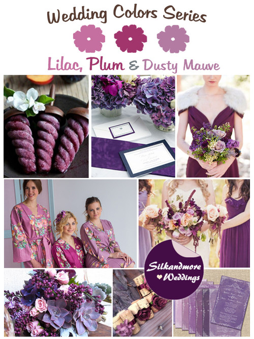 Lilac, Plum and Dusty Mauve Wedding Color Palette