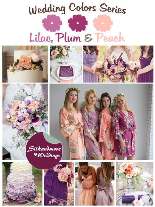 Lilac, Plum and Peach Wedding Color Palette