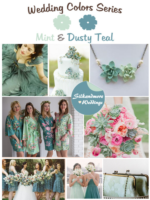 Mint and Dusty Teal Wedding Color Palette