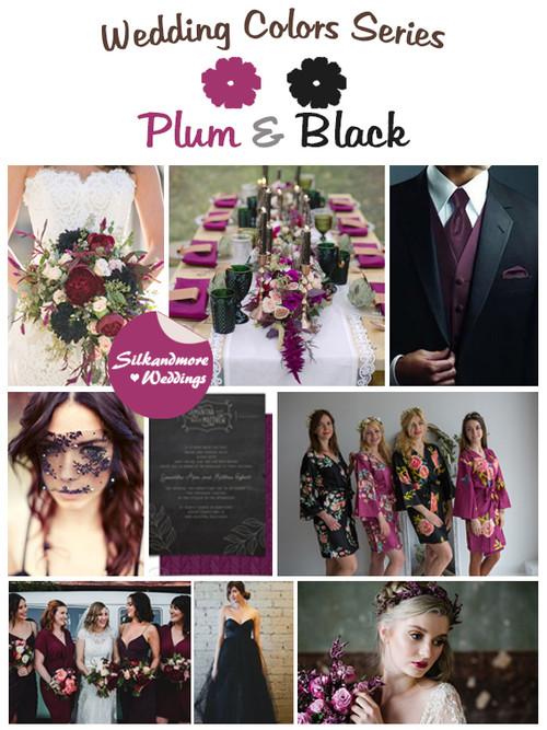 Plum and Black Wedding Color Palette