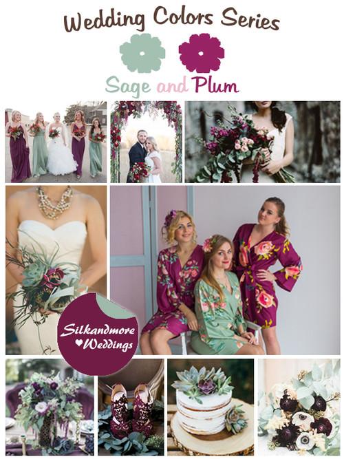 Sage and Plum Wedding Color Palette