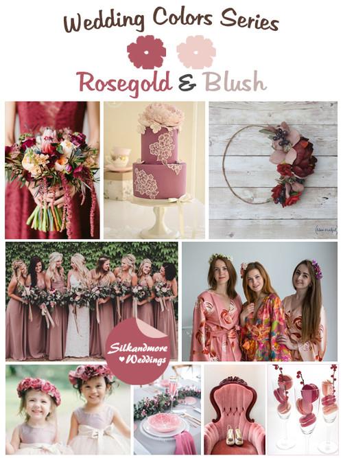 Rosegold and Blush Wedding Color Palette