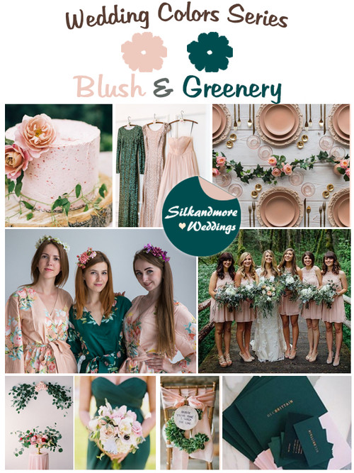 Blush and Greenery Wedding Color Palette