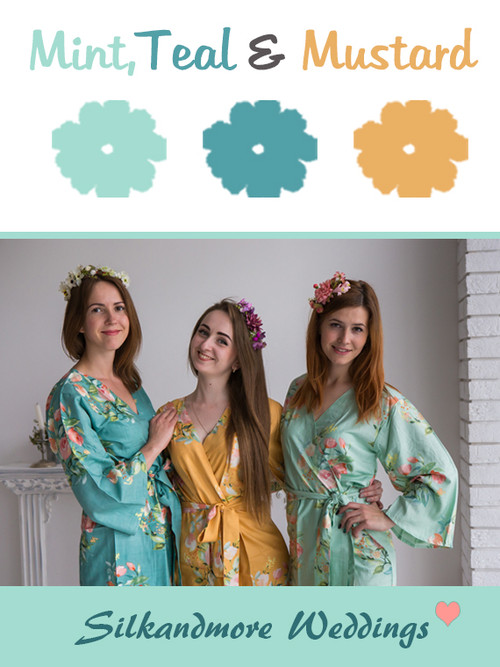 Mint, Teal and Mustard - Premium Rayon Collection