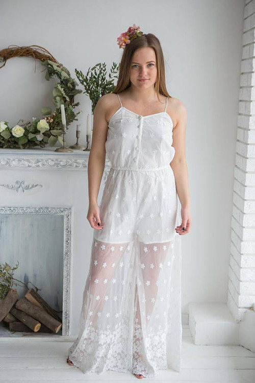 Illusion Bridal Jumpsuit from my Paris Inspirations Collection - Spaghetti Slip Style
