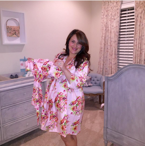 Pink Baby Mommy Matching Robes