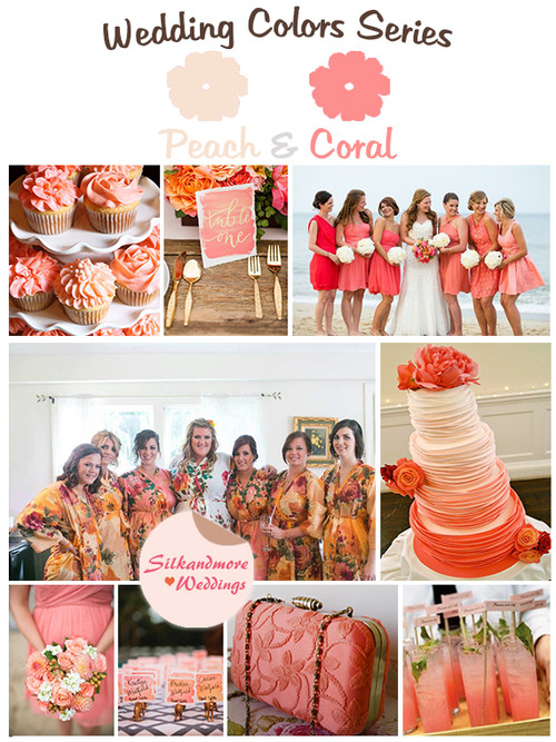 Coral and Peach Wedding Colors Palette